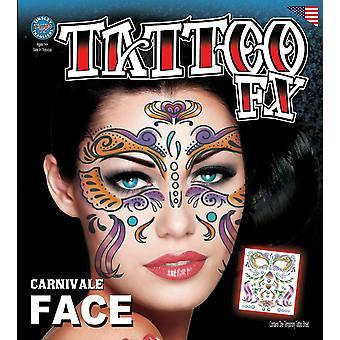 Tinsley Transfers Face Tattoos (Carnivale)