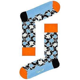 Happy Socks Andy Warhol Graphic Flower Socks - Blue