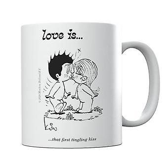 Love Is That First Tingling Kiss Mug