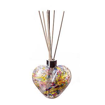 Herz geformt Reed Diffusor weiß Multi Farbe von Amelia Kunst glas