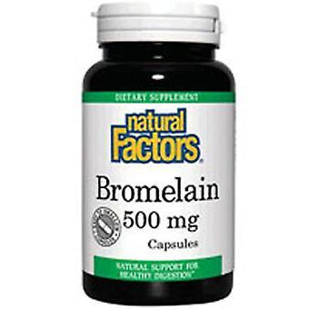 Luonnolliset tekijät Bromelain, 500 mg, 90 Korkkia