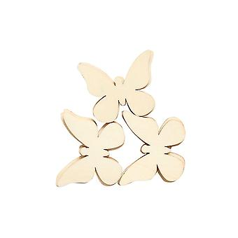 LAST FEW - 12 Wooden 50mm Butterfly Papercraft Embellishments | Card Making Toppers & Scrapbooking Supplies
