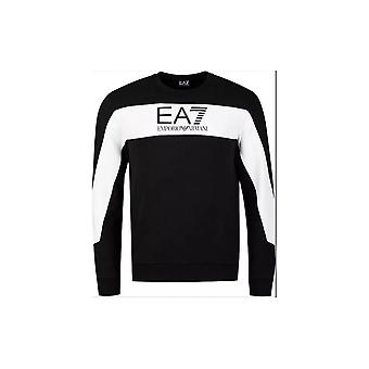 EA7 Emporio أرماني القطن النفقات العامة قميص أسود