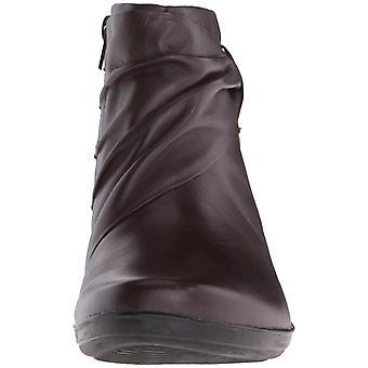 افيريلاي المرأة كلاركس الجلود ماندي جولة إصبع القدم الكاحل أحذية أزياء
