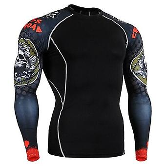 O-neck Mens Tees Bowling Shirt, Compression Wear For Fitness, Gym Training,