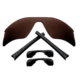 Kit di lenti sostitutive polarizzate per Oakley Radar Range Brown Black Anti-Scratch Anti-Scratch Anti-Glare UV400 di SeekOptics