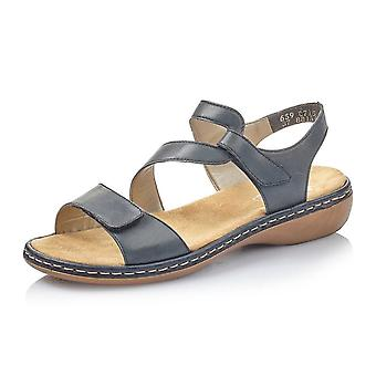 Rieker 659c7-15 Whisper Comfortable Fashion Sandals In Navy