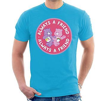 Hoito karhut cheer karhu ja paras ystävä karhu aina ystävä men's t-paita