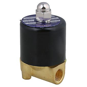 12V DC 1/4Inch Electric Solenoid Valve Water Air N/C Gas Water Air 2W025-08