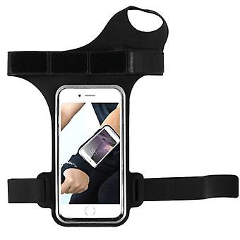 Running Sports Mobile Phone Wrist Bag, Specification:Under 5.5 inches(Black)