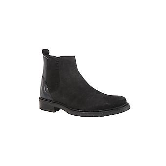 Lotus Fabian Leder & Wildleder Boot in schwarz