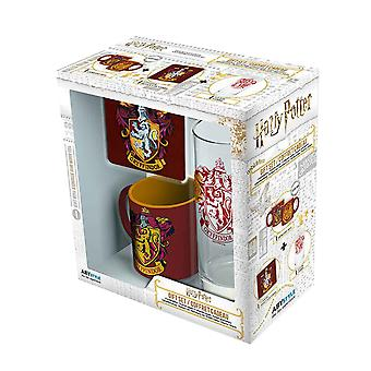 Harry Potter Glass Coaster and Mini Mug Gryffindor new Official Gift Set Boxed