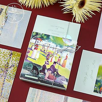 Suuri taiteilijasarjan postikortti, Van Gogh, Claude Monet impressions tervehdys