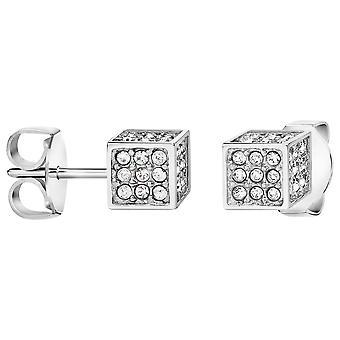 Calvin Klein Rocking Silver Swarovski Crystal Earrings KJ9CWE040100