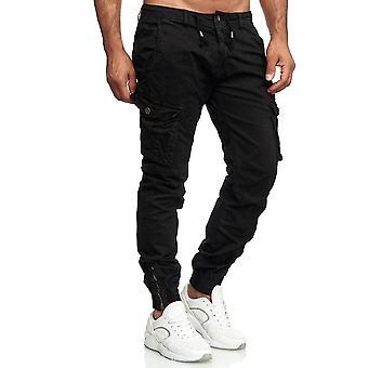 Hommes Cargo Jogging Chino Pants pantalon de jogging d'été tissu léger surélisé
