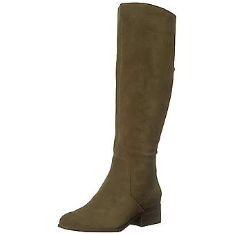 Lucky Brand Womens lanesha Leather Almond Toe Knee High Fashion Boots