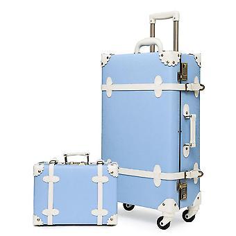 Urecity בציר מזוודות סטים של 2 חתיכות עם גלגלי קסטר מסתובבים