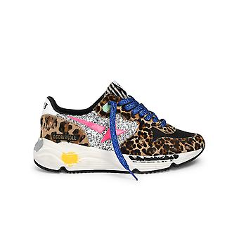 Golden Goose Gwf00126f00029080289 Kvinnor's Leopard Bomull Sneakers