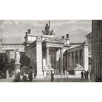 Demeter temppeli Prokopios kuuluisa pyhäkkö pyhä salaisuudet Eleusis kuten se näyttäisi muinoin kirja Harmsworth historiasta maailman julkaissut 1908 Poste