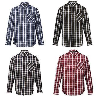 Regatta Mens Classic Checked Long-Sleeved Casual Shirt