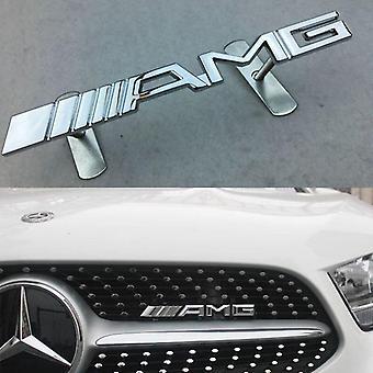الكروم المعادن مرسيدس بنز AMG الجبهة جريل غطاء محرك السيارة شارة شارة شواء شارة شعار لجميع AMGs