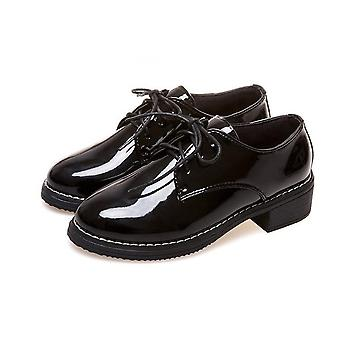 Women Casual Lace Up Pu Flats Shoes, Creepers Ladies Shoes