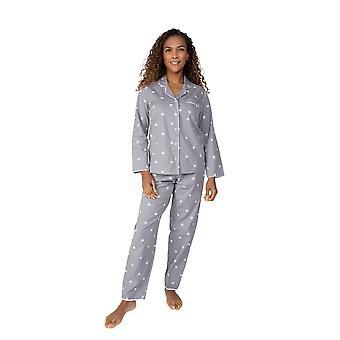 Cyberjammies Nora Rose Juliette 1506 Kvinnor's Grå Blommig Bomull Pyjama Set