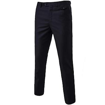 Men Flat Slim Business Man Suit Pants Office Trousers