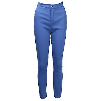 Women Denim Skinny Jeggings Pants, High Waist Stretch Jeans, Slim Pencil