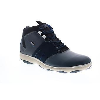 Geox U Nebula 4 X 4 B Abx  Mens Blue Leather Ankle Boots