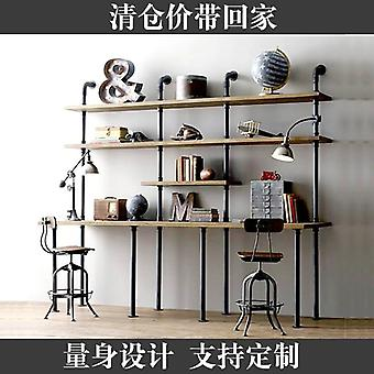 Loft Retro-american Water Pipe Bookshelf