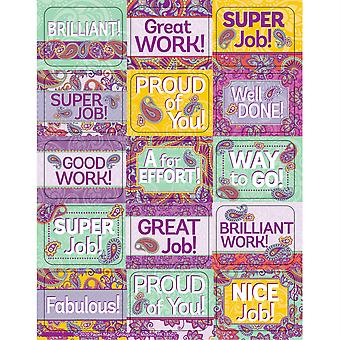 Positively Paisley Success Stickers, 120 Per Pack, 12 Packs