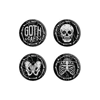 Grindstore Goth Af Badge Set Set (Pack of 4)