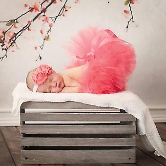 Newborn Tutu And Matching Flower Headband Skirt