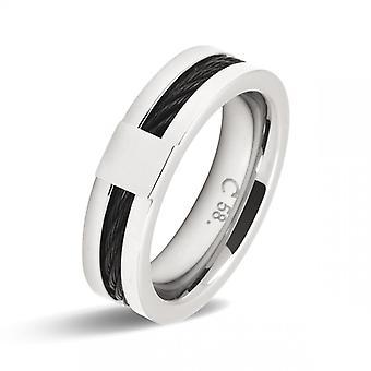 Ring ratel kaapstander A2381 - Ring staal lijn zwarte man
