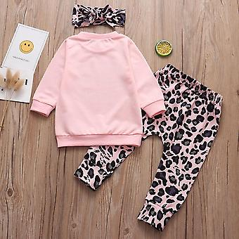 Baby-Kleidung-Set, Dating Tops + Leopard Print Hose