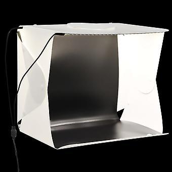 vidaXL LED light box for photo studio folding bar 40×34×37 cm plastic white
