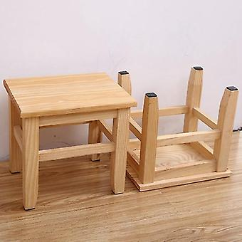 Solid Wood Shoe Bench Stool