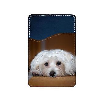 Koiran malteser-liimakortin haltija matkapuhelimeen