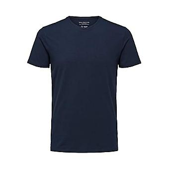 SELECTED HOMME 16073457 T-Shirt, Blue (Navy BlazerNavy Blazer), XX-Large Men