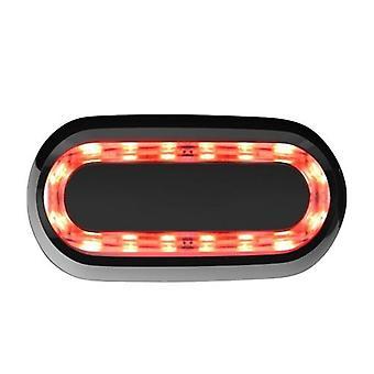Fiets Intelligent Sensing Brake Achterlichten USB Oplaadbare Multifunctionele Outdoor Light Night Cycling Tool Waterdichte Waarschuwingslampjes