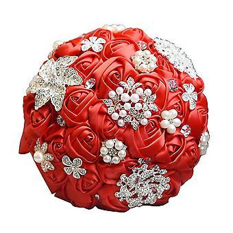 Великолепные свадебные цветы свадебные букеты Хрустальная искра с жемчугом