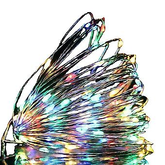 Usb 3m 30 leds colorful usb led string lights 10m 5m 3m 2m, silver wire waterproof fairy light az16822