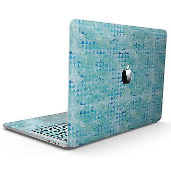 Padrão de triângulo texturizado azul - Macbook Pro com kit de pele de barra de toque