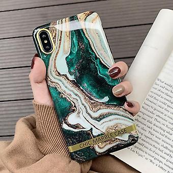 Coque souple d'étui de téléphone portable en marbre créatif