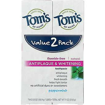 Tom's Of Maine Antiplaque and Whitening Toothpaste, 5.5 Oz