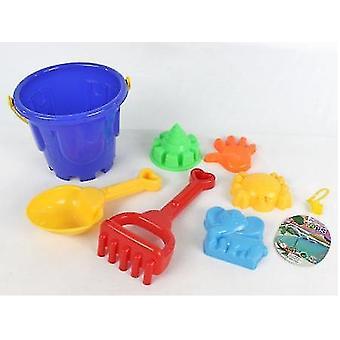 7 יח' צעצועי חוף לילדים כוללים כלים, את חפירה ומגרפה