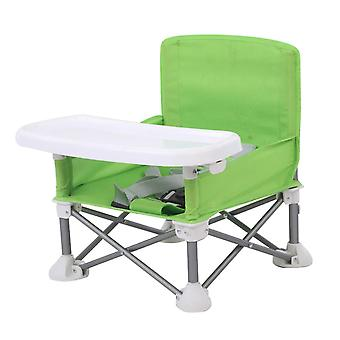 כיסא אוכל נייד לילדים מתקפלים עם מגש מתכוונן סגסוגת אלומיניום דשא חוף להסרה
