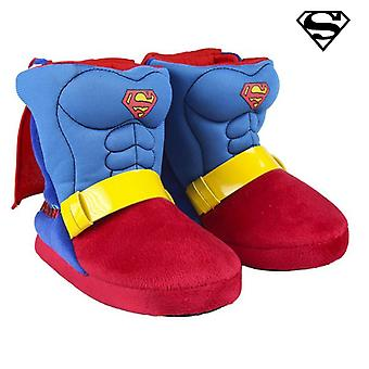 House Slippers Superman Blue