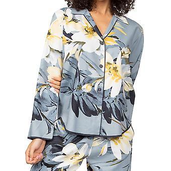 Cyberjammies Rachel 4872 Gris charbon de bois Gris Floral Coton Pyjama Haut